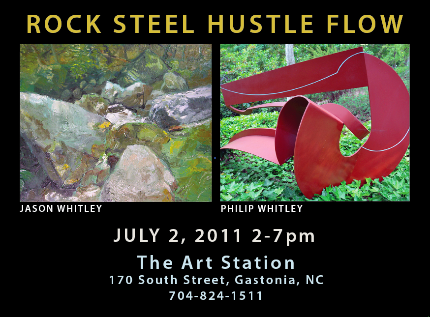 Rock Steel Hustle Flow exhibit Philip Whitley, Jason Whitley